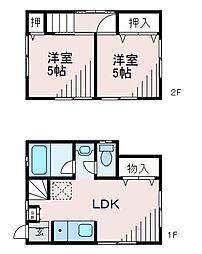 [一戸建] 神奈川県相模原市南区上鶴間2丁目 の賃貸【/】の間取り