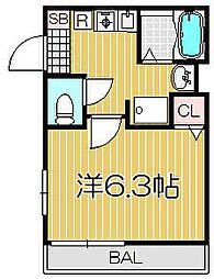 東京都品川区小山4丁目の賃貸アパートの間取り