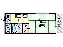 高木ハイツ[1階]の間取り