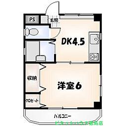 高島マンション[301号室]の間取り