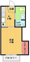 ハイツ・アマノA棟[203号室号室]の間取り