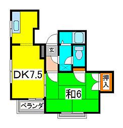 サンビレッジ南浦和[3階]の間取り