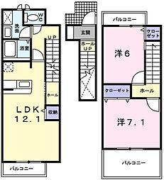 [タウンハウス] 兵庫県姫路市四郷町東阿保 の賃貸【/】の間取り