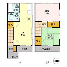 マルシンコーポ B[1階]の間取り