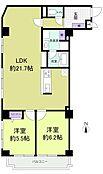 「間取図」2LDK、専有面積70.3m2、バルコニー面積5.65m2