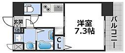 ワールドアイ大阪ドームシティ 6階1Kの間取り