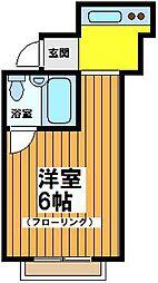 東京都世田谷区松原3丁目の賃貸アパートの間取り