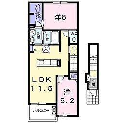 フランフランサクラB棟[2階]の間取り