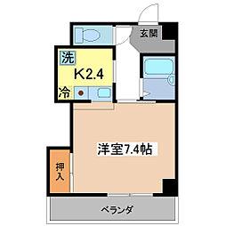 エスペランサ伏見[4階]の間取り