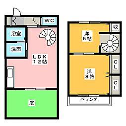 [テラスハウス] 愛知県名古屋市西区大野木2丁目 の賃貸【/】の間取り