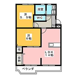 MSタウンIII[1階]の間取り