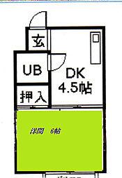 サンシャイン豊田[2階]の間取り