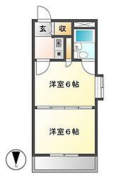 東和マンション新栄[6階]の間取り