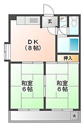 サンライズ21[3階]の間取り
