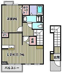 カルムメゾンA[2階]の間取り