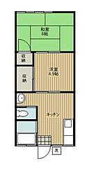 村上荘[1号室]の間取り
