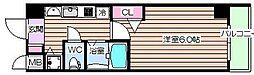 プレミアムコート天神橋8[8階]の間取り