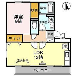 燦コーポA棟[3階]の間取り