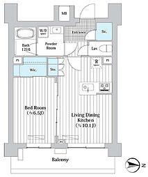 東京メトロ丸ノ内線 西新宿駅 徒歩7分の賃貸マンション 7階1LDKの間取り