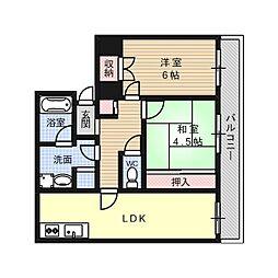 ハイツCOCO[4階]の間取り