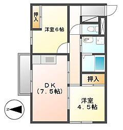 ドムス栄[8階]の間取り