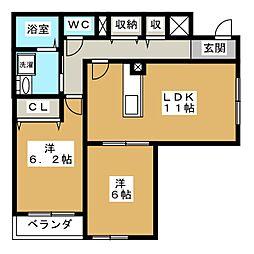 グラン佐竹[2階]の間取り