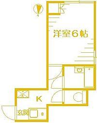 パオ桜ヶ丘[1階]の間取り
