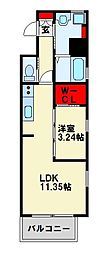 JR鹿児島本線 戸畑駅 徒歩4分の賃貸マンション 5階1LDKの間取り
