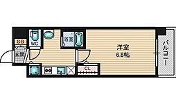 SDグランツ新大阪[3階]の間取り