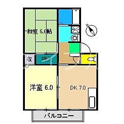 メゾン・ドール(北新田)[1階]の間取り