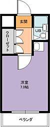 ユニテソリステ鳴尾[4階]の間取り