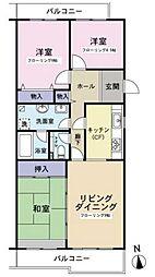 タウンハウス貝取2-12-4[203号室号室]の間取り