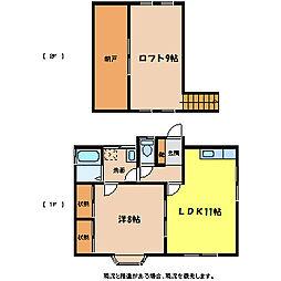 [一戸建] 長野県上伊那郡宮田村 の賃貸【/】の間取り