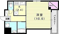(仮)神戸市長田区二葉町マンション 2階1Kの間取り