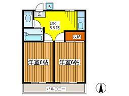 ファミールハウスナカヤマI[2階]の間取り