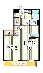 コリーヌ・ドゥ[2階]の間取り