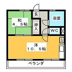 青島マンション[2階]の間取り