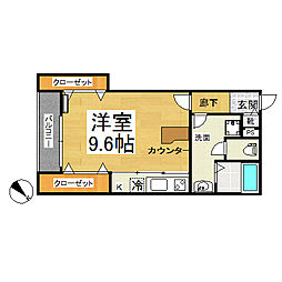 千葉県千葉市中央区椿森1丁目の賃貸アパートの間取り
