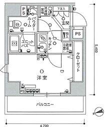 スカイコートルーベンス西早稲田[801号室]の間取り