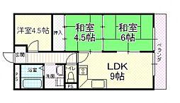 UTOPIA KASHIWARA(ユートピア柏原)[207号室号室]の間取り