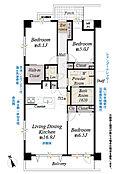 1階部分南西向き角住戸、平成27年4月室内リノベーション済