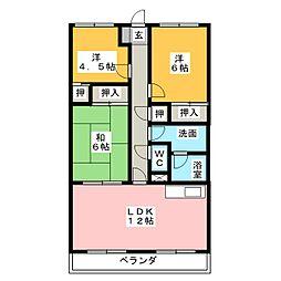 PLASEO上島[2階]の間取り