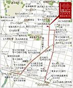 駅から現地までの案内図