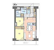 間取 収納では各居室のクローゼットの他に、廊下にも物入れがあります。ハンガーを掛けられるパイプと可動棚に分かれており、多様な種類のものをまとめて整理できます。