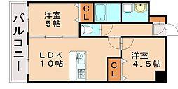 ランドマーク松島[5階]の間取り