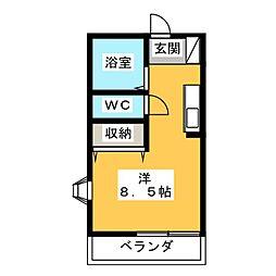 セジュール杉崎[1階]の間取り