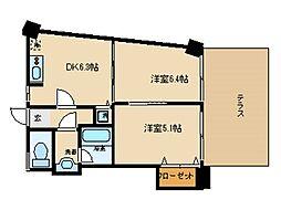 東京都大田区池上1丁目の賃貸マンションの間取り