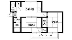アヴニ−ルヨネダI・II[2-101号室]の間取り