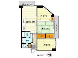 コモン山田EAST[5階]の間取り