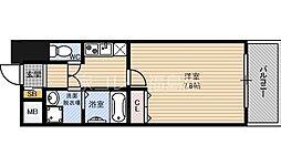 JR東西線 北新地駅 徒歩3分の賃貸マンション 6階1Kの間取り